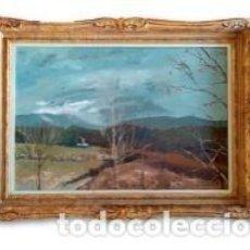Arte: PINTOR MIQUEL MASABEU - OLEO TITULADO TORMENTA HIVERN (1984). Lote 193962255