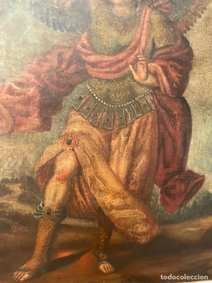 Arte: Arcángel. Arte colonial. Escuela cuzqueña siglo XVII. - Foto 3 - 193977516