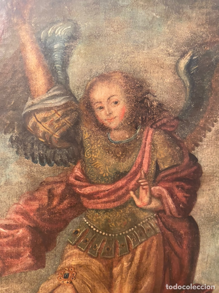 Arte: Arcángel. Arte colonial. Escuela cuzqueña siglo XVII. - Foto 4 - 193977516