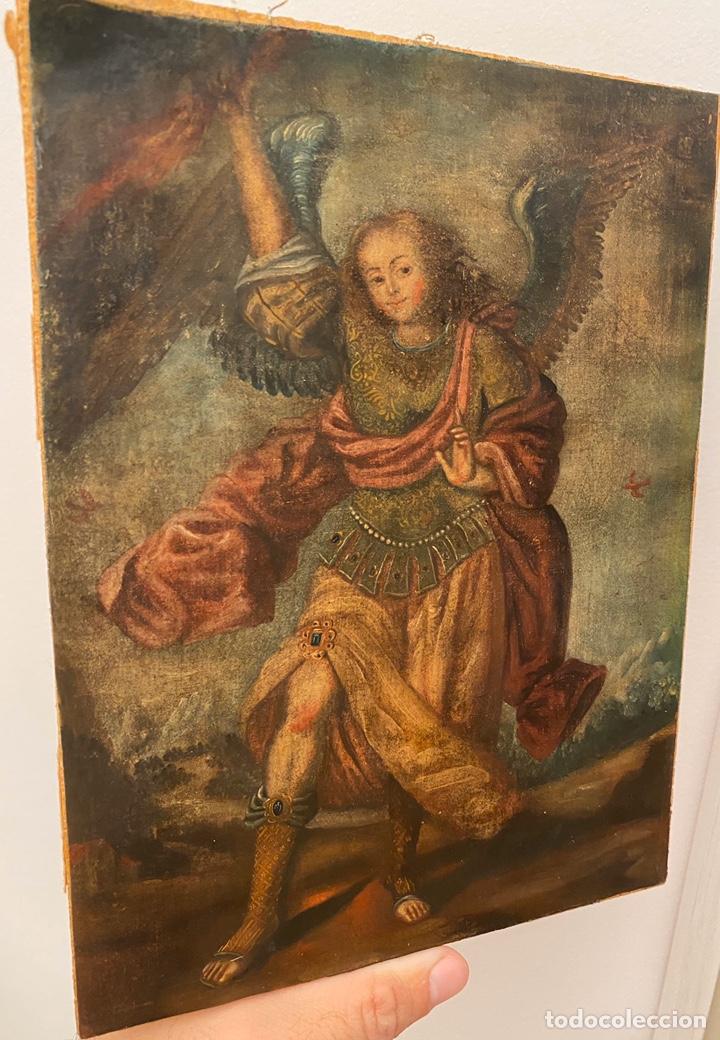 ARCÁNGEL. ARTE COLONIAL. ESCUELA CUZQUEÑA SIGLO XVII. (Arte - Pintura - Pintura al Óleo Antigua siglo XVII)