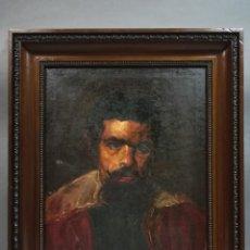 Arte: OLEO SOBRE LIENZO, COPIA DE EL PRIMO O BUFON DON SEBASTIAN DE MORRA. Lote 193987246