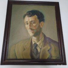 Arte: ÓLEO SOBRE LIENZO RETRATO DE HOMBRE FIRMADO PRIMATESTA JEREZ 59. 55X64 CMS. Lote 193999697