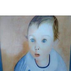 Arte: ASOMBRO A LO DESCONOCIDO, RETRATO DE UN BEBÉ M. SOS ACUARELA. Lote 194082068