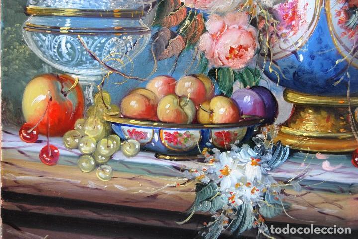 Arte: Roberto Michel - Barcelona 1.944 Óleo sobre Lienzo - Naturaleza Muerta Gran Formato - Foto 5 - 194107435
