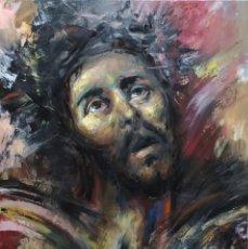 Arte: CRISTO ECCE HOMO, SEMANA SANTA, ÓLEO DEL PINTOR MALAGUEÑO JOSÉ CARLOS CHICA. Lote 194121462
