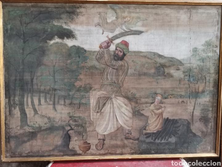 SARGA SACRIFICIO ISAAC ABRAHAM XVI (Arte - Pintura - Pintura al Óleo Antigua siglo XVI)