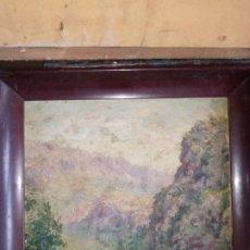 Arte: ESCUELA ESPAÑOLA PP S.XX PAISAJE OLEO SOBRE CARTON. Lote 194143760