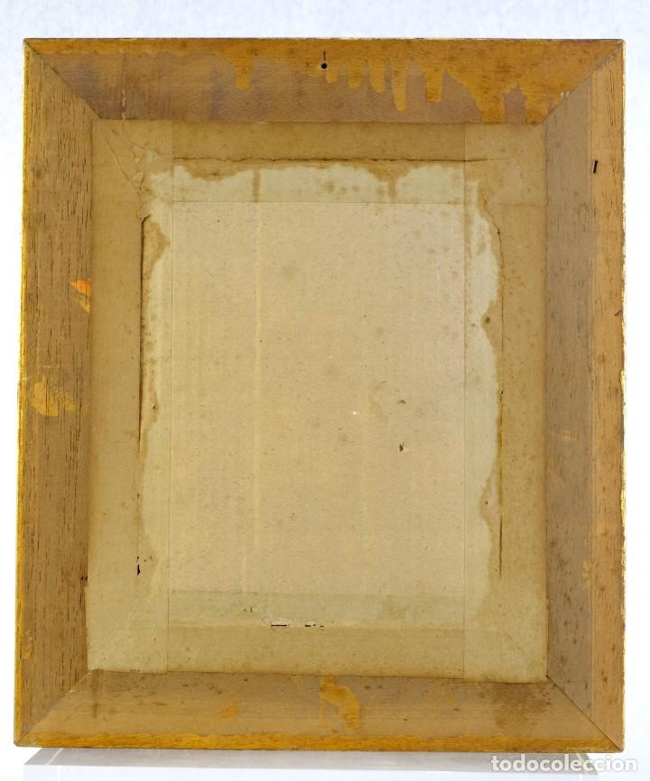 Arte: Pere Borrell del Caso (1835-1910) óleo sobre tabla Retrato de niña Firmado - Foto 7 - 194149333