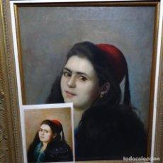 Arte: EXCELENTE ÓLEO DE TOMÀS MORAGAS I TORRAS(GIRONA 1837-BCN 1906).CERTIFICADO BARRACHINA.1982.. Lote 194156507