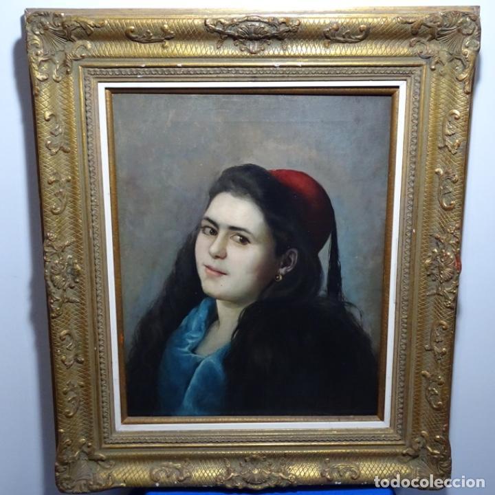 Arte: Excelente Óleo de Tomàs moragas i torras(girona 1837-bcn 1906).certificado barrachina.1882. - Foto 2 - 194156507