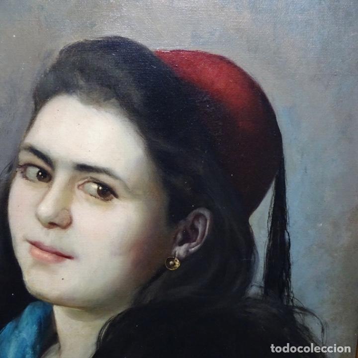 Arte: Excelente Óleo de Tomàs moragas i torras(girona 1837-bcn 1906).certificado barrachina.1882. - Foto 5 - 194156507