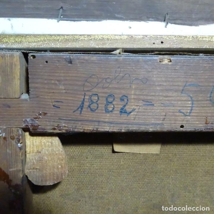 Arte: Excelente Óleo de Tomàs moragas i torras(girona 1837-bcn 1906).certificado barrachina.1882. - Foto 21 - 194156507