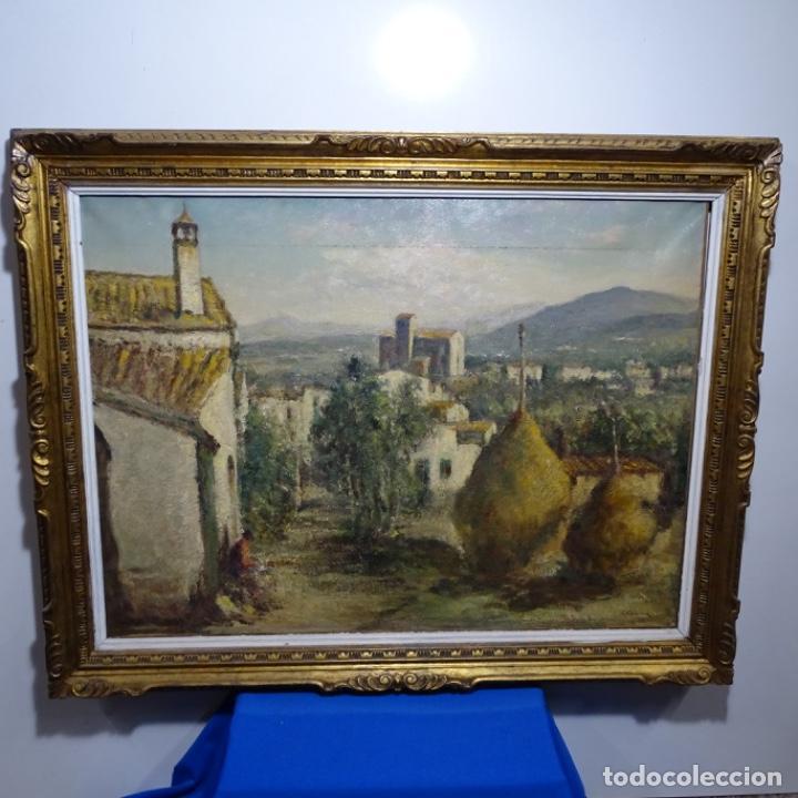 """Arte: Óleo de Joan colom i agusti (arenys de mar 1879-1969).""""al palle"""".estuvo en exposición. - Foto 2 - 194157697"""