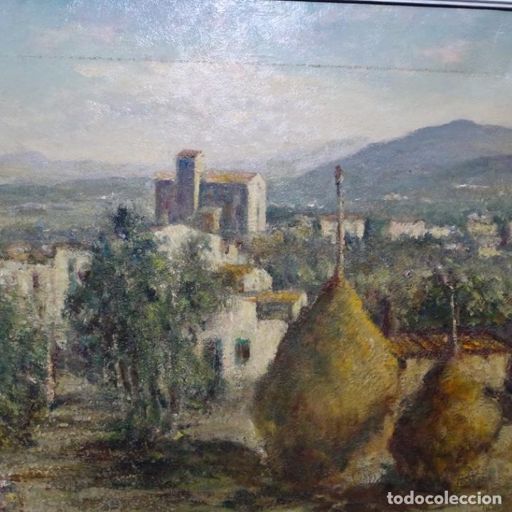 """Arte: Óleo de Joan colom i agusti (arenys de mar 1879-1969).""""al palle"""".estuvo en exposición. - Foto 3 - 194157697"""