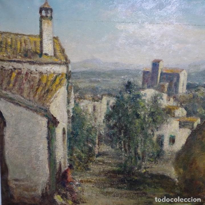 """Arte: Óleo de Joan colom i agusti (arenys de mar 1879-1969).""""al palle"""".estuvo en exposición. - Foto 4 - 194157697"""