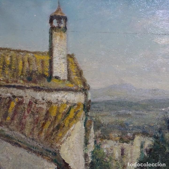 """Arte: Óleo de Joan colom i agusti (arenys de mar 1879-1969).""""al palle"""".estuvo en exposición. - Foto 5 - 194157697"""