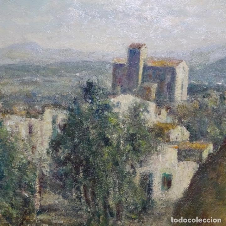 """Arte: Óleo de Joan colom i agusti (arenys de mar 1879-1969).""""al palle"""".estuvo en exposición. - Foto 6 - 194157697"""