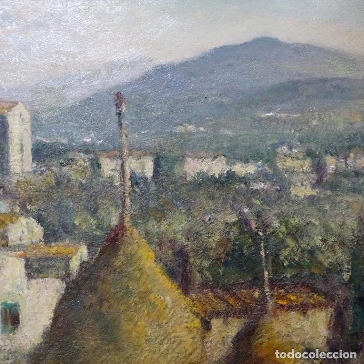 """Arte: Óleo de Joan colom i agusti (arenys de mar 1879-1969).""""al palle"""".estuvo en exposición. - Foto 7 - 194157697"""