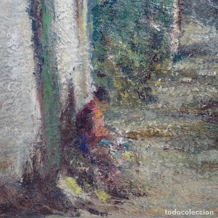 """Arte: Óleo de Joan colom i agusti (arenys de mar 1879-1969).""""al palle"""".estuvo en exposición. - Foto 8 - 194157697"""