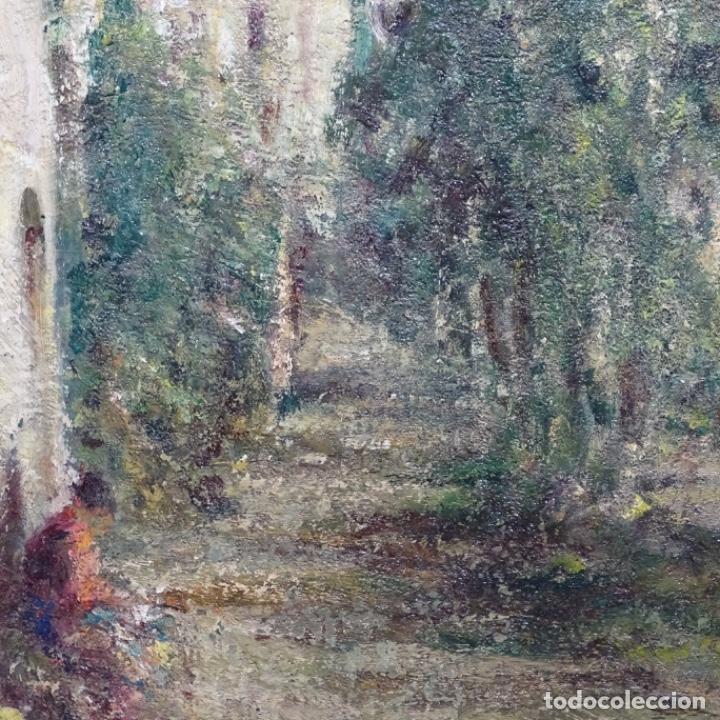"""Arte: Óleo de Joan colom i agusti (arenys de mar 1879-1969).""""al palle"""".estuvo en exposición. - Foto 9 - 194157697"""