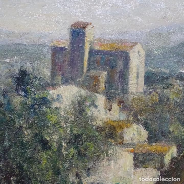 """Arte: Óleo de Joan colom i agusti (arenys de mar 1879-1969).""""al palle"""".estuvo en exposición. - Foto 10 - 194157697"""