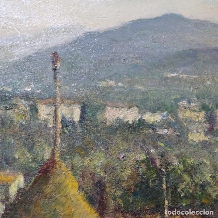 """Arte: Óleo de Joan colom i agusti (arenys de mar 1879-1969).""""al palle"""".estuvo en exposición. - Foto 11 - 194157697"""
