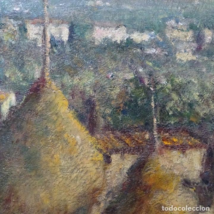 """Arte: Óleo de Joan colom i agusti (arenys de mar 1879-1969).""""al palle"""".estuvo en exposición. - Foto 12 - 194157697"""
