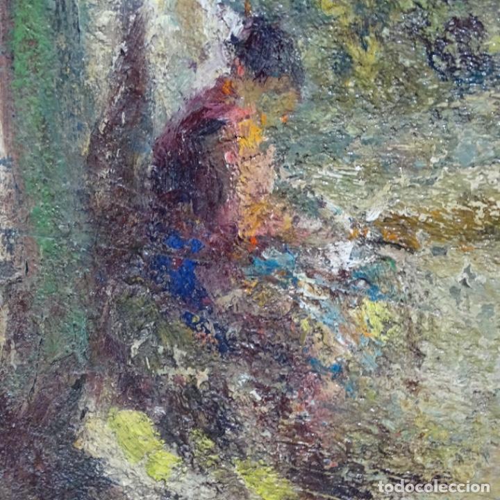 """Arte: Óleo de Joan colom i agusti (arenys de mar 1879-1969).""""al palle"""".estuvo en exposición. - Foto 13 - 194157697"""