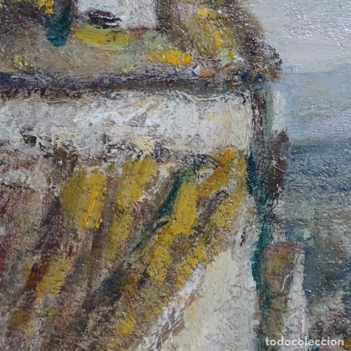 """Arte: Óleo de Joan colom i agusti (arenys de mar 1879-1969).""""al palle"""".estuvo en exposición. - Foto 14 - 194157697"""