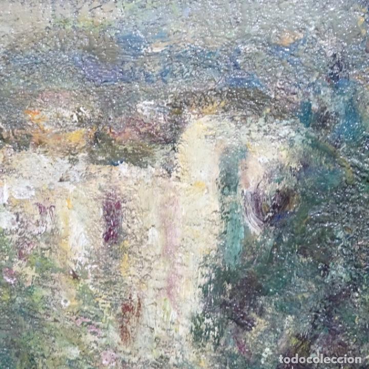 """Arte: Óleo de Joan colom i agusti (arenys de mar 1879-1969).""""al palle"""".estuvo en exposición. - Foto 15 - 194157697"""