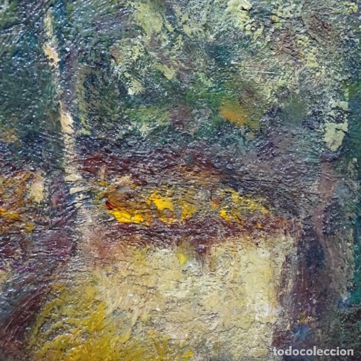 """Arte: Óleo de Joan colom i agusti (arenys de mar 1879-1969).""""al palle"""".estuvo en exposición. - Foto 16 - 194157697"""
