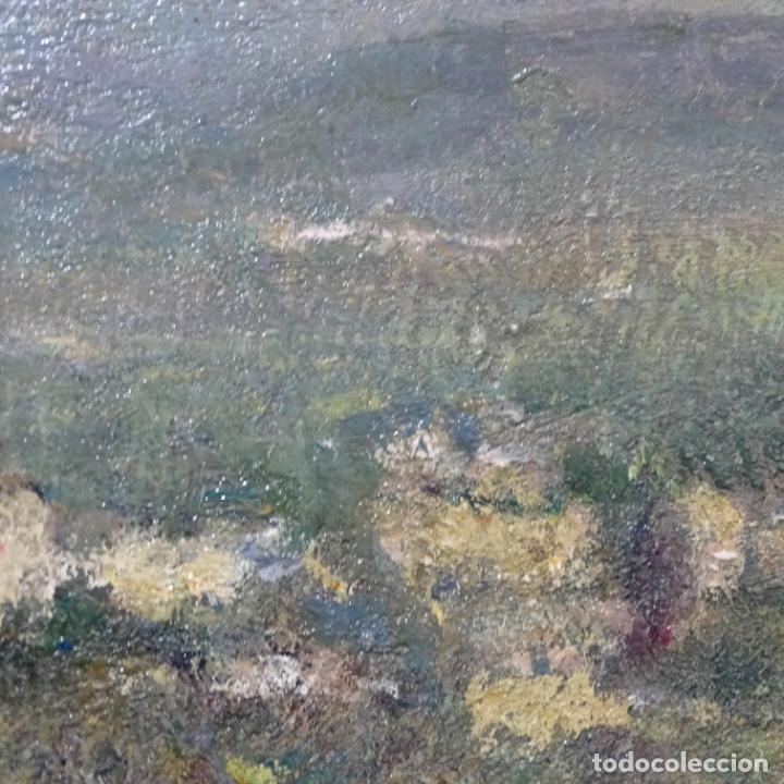 """Arte: Óleo de Joan colom i agusti (arenys de mar 1879-1969).""""al palle"""".estuvo en exposición. - Foto 17 - 194157697"""