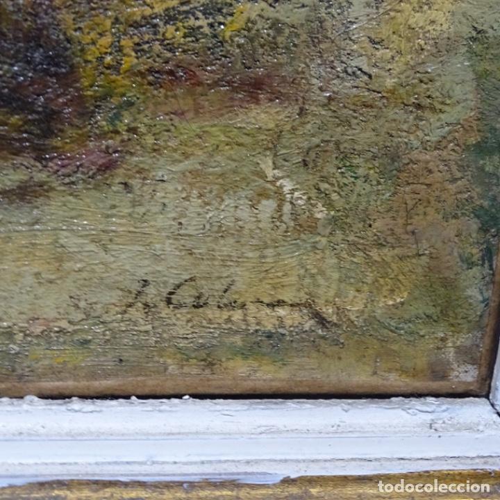 """Arte: Óleo de Joan colom i agusti (arenys de mar 1879-1969).""""al palle"""".estuvo en exposición. - Foto 18 - 194157697"""
