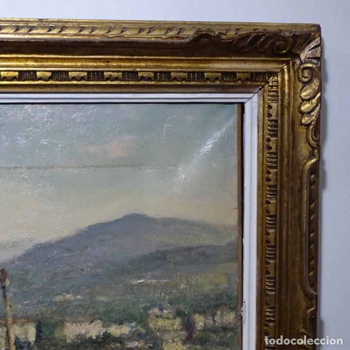 """Arte: Óleo de Joan colom i agusti (arenys de mar 1879-1969).""""al palle"""".estuvo en exposición. - Foto 19 - 194157697"""
