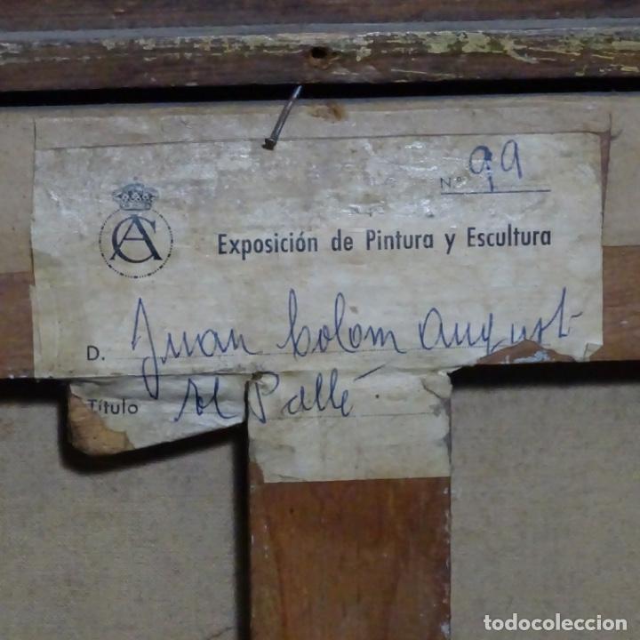 """Arte: Óleo de Joan colom i agusti (arenys de mar 1879-1969).""""al palle"""".estuvo en exposición. - Foto 21 - 194157697"""