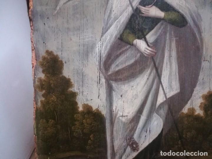 Arte: ESPECTACULAR Y PRECIOSA SANTA URSULA SIGLO XVIII EN TABLA MIREN FOTOS - Foto 2 - 194161328