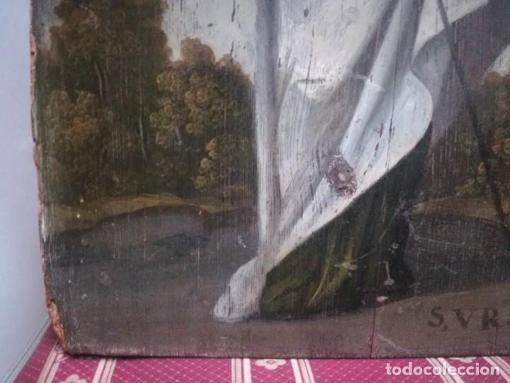 Arte: ESPECTACULAR Y PRECIOSA SANTA URSULA SIGLO XVIII EN TABLA MIREN FOTOS - Foto 6 - 194161328
