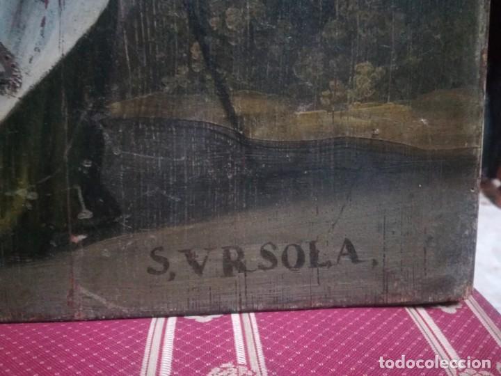 Arte: ESPECTACULAR Y PRECIOSA SANTA URSULA SIGLO XVIII EN TABLA MIREN FOTOS - Foto 7 - 194161328