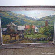 Arte: GRAN OLEO DE ISIDRE ODENA SOBRE TABLEX.1976.EMILL.LA VAL DE BOHI.. Lote 194165003