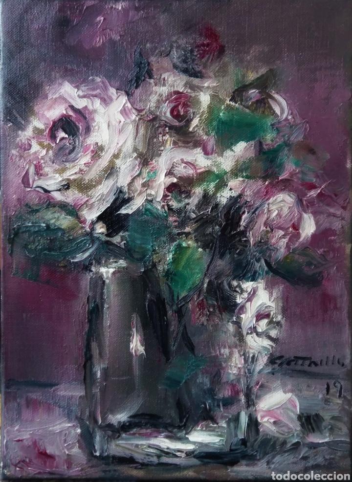 VASO CON ROSAS 2019 (Arte - Pintura - Pintura al Óleo Contemporánea )
