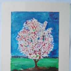Arte: JOAN QUERALT DE QUADRAS (1.947) - ARBRE FLORIT. 2.008 - 32 X 23. Lote 170881190