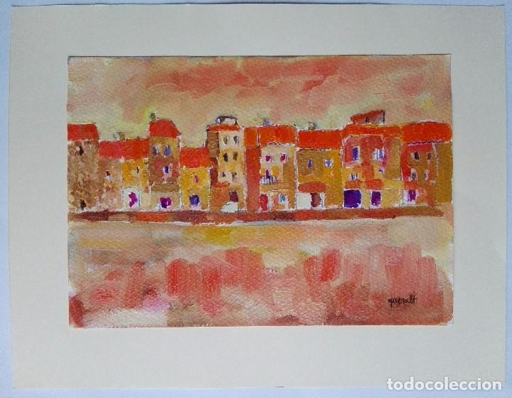 JOAN QUERALT DE QUADRAS (1.947) - CARRER DE POBLE. 2.008 - 32 X 23 (Arte - Pintura Directa del Autor)