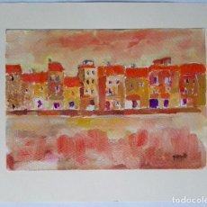 Arte: JOAN QUERALT DE QUADRAS (1.947) - CARRER DE POBLE. 2.008 - 32 X 23. Lote 170881340