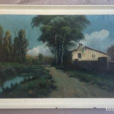 Arte: INTERESANTE CUADRO ANTIGUO PINTURA OLEO FIRMADO -(19433). Lote 194201047