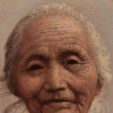 Arte: OLEO DE ARISU BIZAN SEÑORA SIGLO XX. Lote 194217668