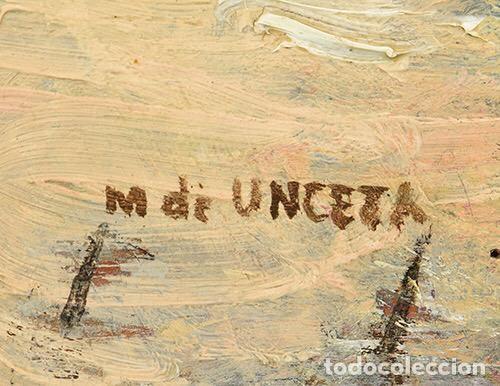 Arte: Óleo Marcelino de Unceta y López Caballo siglo XIX / XX - Foto 3 - 194219955