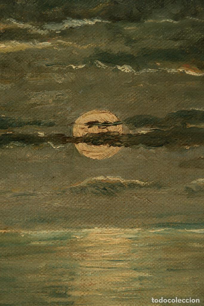 Arte: Óleo Escuela francesa - J. Dupre - Paseo Marítimo siglo XIX - Foto 4 - 194220726