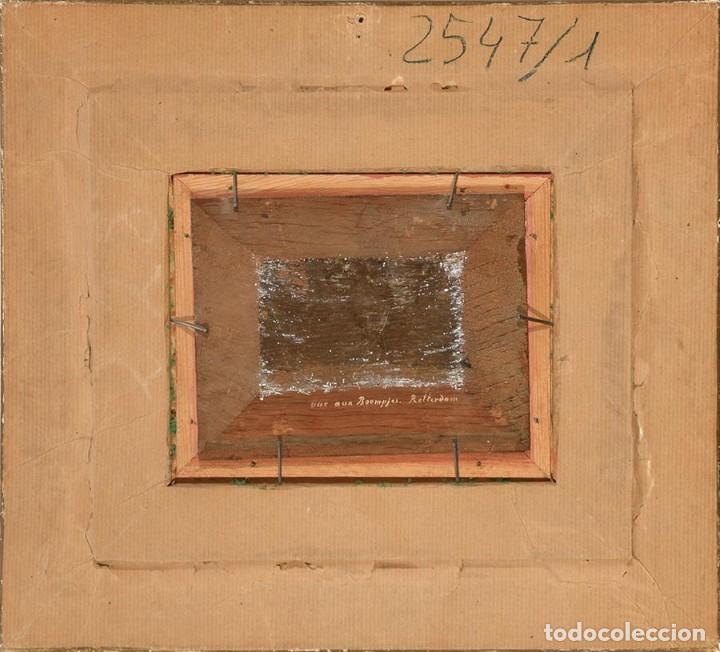 Arte: Óleo Escuela Holandesa siglo XIX Vista de la calle Boompjas, Rotterdam - Foto 4 - 194221751