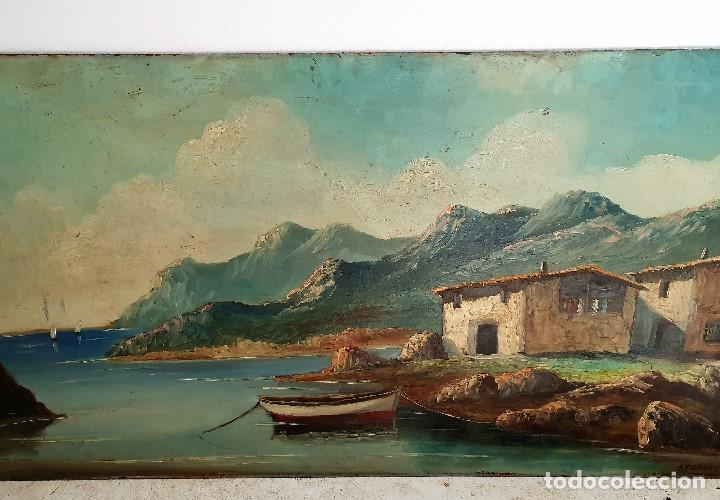 Arte: OLEO SOBRE TABLA FIRMADO - Foto 2 - 194222798