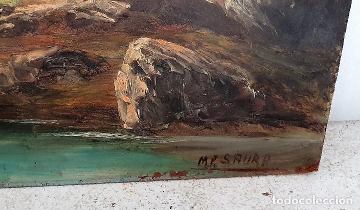 Arte: OLEO SOBRE TABLA FIRMADO - Foto 3 - 194222798